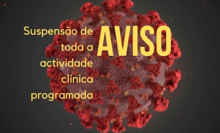 AVISO DE SUSPENSÃO TEMPORÁRIA DE ACTIVIDADE